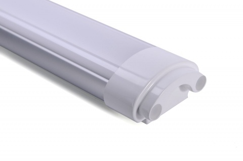 LED Leiste Deckenleuchte 60W 4000K Neutralweiss 230V 4800lm Aluminium 150° Abstrahlwinkel Feuchtraum Keller - Vorschau 3