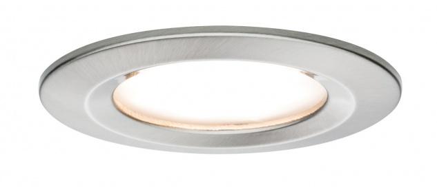 Paulmann Premium Einbauleuchte Set Coin Slim rund starr LED 3x6, 8W 2700K 230V 51mm Eisen g/Alu