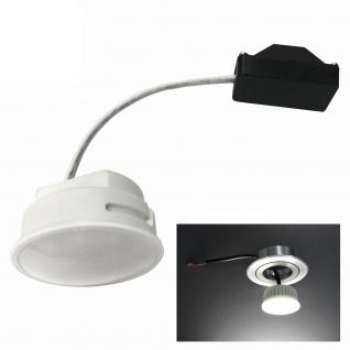 MILI LED Leuchtmittel Modul Satiniert für Einbaustrahler 5W Verbrauch 3000K Warmweiss 230V 400Lumen ersetzt 40W MR16 geringe Einbautiefe