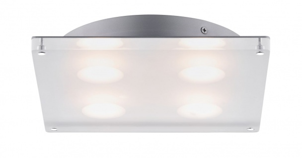 Paulmann 705.08 WallCeiling DL eckig Minor IP44 LED 18W 230x230mm Satin 230V Acryl