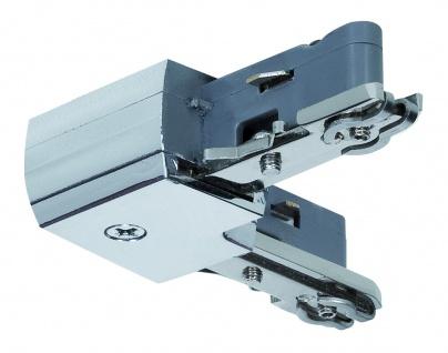 URail System Light&Easy L-Verbinder starr Chrom 230V Metall