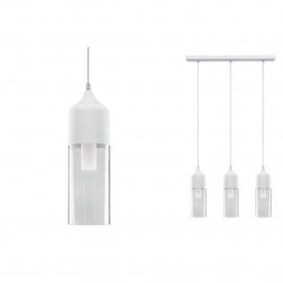 Paulmann Neordic Vanja Pendelleuchte max.3x20W E27 Weiß matt/Klar 230V Glas/Metall