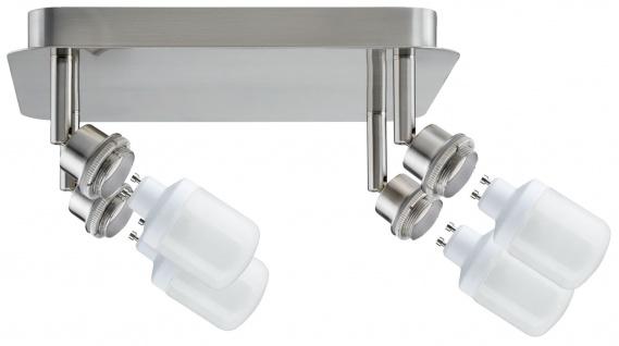 Paulmann 601.01 Spotlights DecoSystems Rondel 4x9W GZ10 Eisen gebürstet 230V Metall