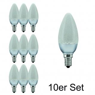 10x 28088.10 Paulmann E14 Fassung LED Kerze 1, 4W Eiskristall