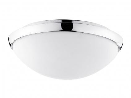 WallCeiling Polar HF-Sensor IP44 LED 14W 300mm Chrom/Opal 230V Metall/Glas
