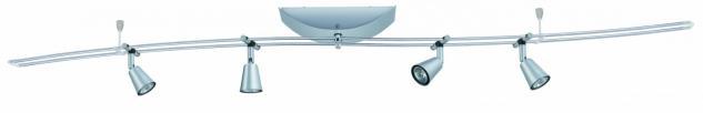 950.85 Paulmann 12V Rail Set Rail System Lille 150 4x35W GU4 12V 150VA Chrom matt Metall