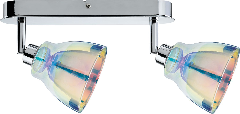 Spotlights Dichroic Balken 2x40W GZ10 Chrom Dichroic 230V Metall Glas