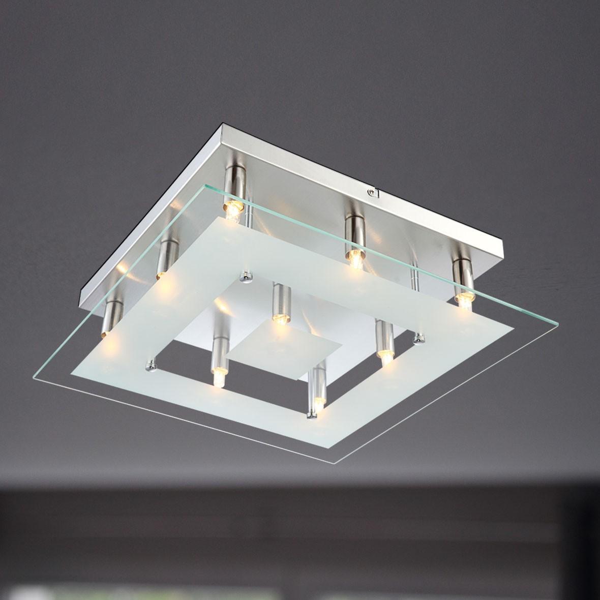 Wofi deckenleuchte halogen lampe lyon 9x g9 33 w for Deckenleuchte lampe