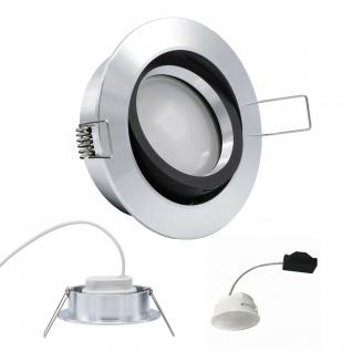 Einbauleuchte 5W 3000K Warmweiss 230V 400lm Alu / Schwarz inkl. austauschbare LED Modul geringe Einbautiefe
