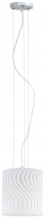 Paulmann 998.59 Living Carvu Pendelleuchte 1x25W Energiesparlampe E27 Chrom/Opal/Satin 230V Metall/Glas