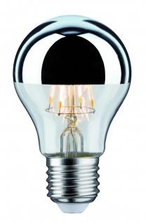 Paulmann 283.76 LED Glühlampe 5W E27 230V Kopfspiegel Silber 2700K