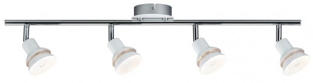 Paulmann Spotlight Double 4x2, 2W G9 Weiß/Chrom 230V Metall
