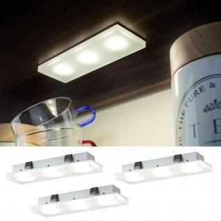 Paulmann Möbel Einbauleuchte Set Fleecy LED eckig 3x3, 6W 4000K 9VA 230/12V 150x50mm Satin/Acryl