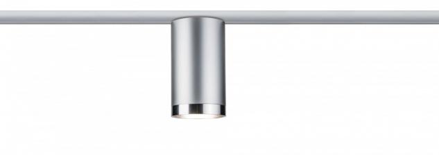 URail System LED Spot Tube 1x6, 5W GU10 230V Chrom matt/Chrom Metall