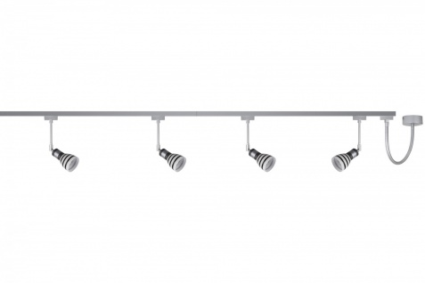975.86 Paulmann U-Rail System Titurel 4x40W 97586 Chrom matt inkl. 4x G9 3, 5W LED