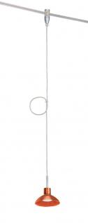 973.73 Paulmann Wire Systems HighWire Mono Spot Sarrasani 50W GZ10 Chrom matt/Orange transparent 230V