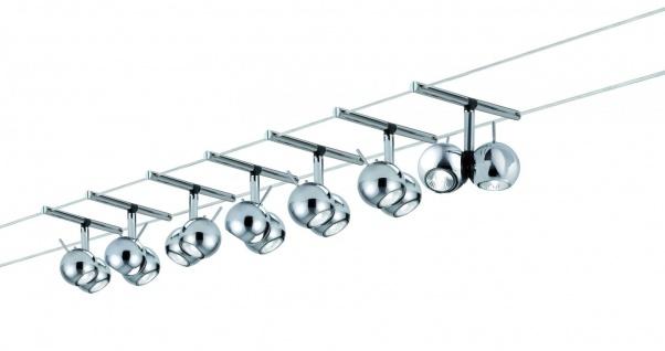 978.70 Paulmann Seil Komplett Set Wire System Sphere 300 7x(2x20W) GU4 Chrom 230/12V 300VA Metall