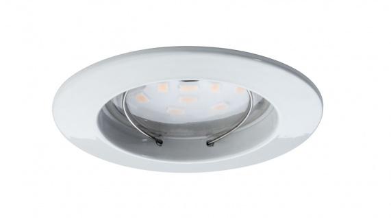 Paulmann Premium Einbauleuchte Set Coin klar rund starr LED 3x6, 8W 2700K 230V 51mm Weiß matt/Alu Zink - Vorschau 2