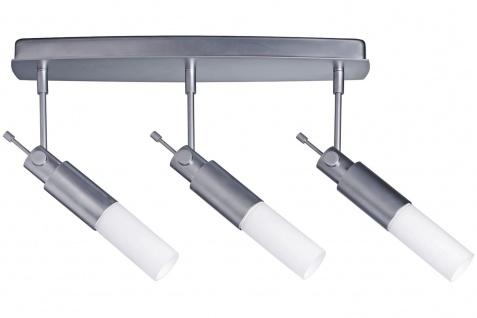 664.52 Paulmann Deckenleuchten Spotlights Pharus Balken 3x9W E14 Decopipe Chrom matt/Opal 230V Kunststoff