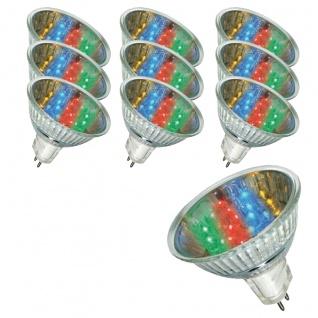 10 x LED Reflektor Paulmann 28001.10 20° 1W GU5, 3 Fassung 12V 51mm 7 Colors