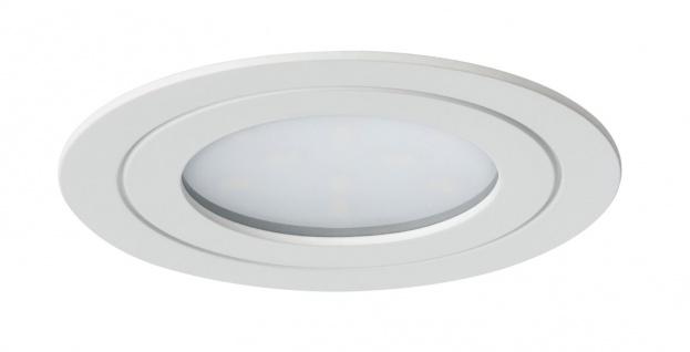 Paulmann Möbel Einbauleuchte Set Circuit LED rund 3x5, 6W 17, 5VA 230V/350mA 85mm Weiß matt/Metall - Vorschau 3