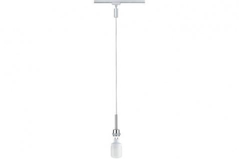 Paulmann URail Schienensystem DecoSystems Energiesparlampe Pendel Blanko 1x9W GU10 230V Metall Chrom