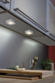 Möbel ABL Set Quadro 3x20W 60VA 230/12V G4 80mm Chrom matt/Satin/Stahlblech/Glas