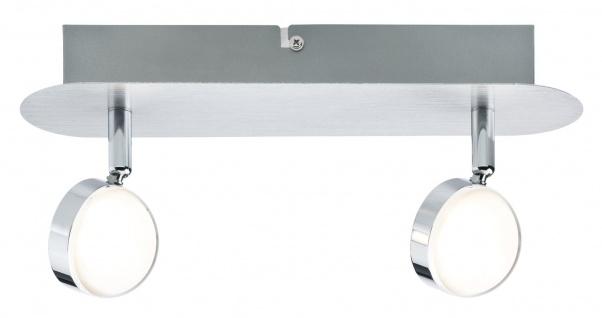 Paulmann Spotlight Hemisphere 2x4, 5W Alu gebürstet/Chrom 230V Metall/Acryl