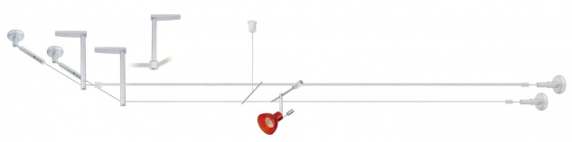 Paulmann Wire System HighWire Duo Abhängung II 200 Chrom matt Metall - Vorschau 3