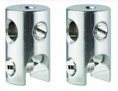 WS L&E Seilklotz Seilsysteme 2er Pack max.150W/Stange max.300W Chrom 12V Met