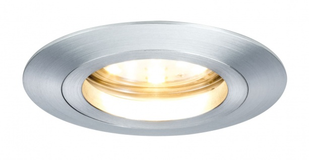 Paulmann 928.08 Premium Einbauleuchte Set Coin dimmbar klar rund st LED 1x7W 2700K 230V 51mm Alu Zink gedreht