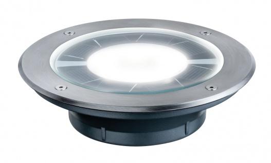 Paulmann 937.76 Special Einbauleuchte Set Solar Boden Pandora IP67 1x0, 36W 170mm Edelstahl/Klar/Glas
