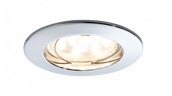 Premium EBL Set Coin klar rund starr LED 1x6, 8W 2700K 230V 51mm Chr/Alu Zink