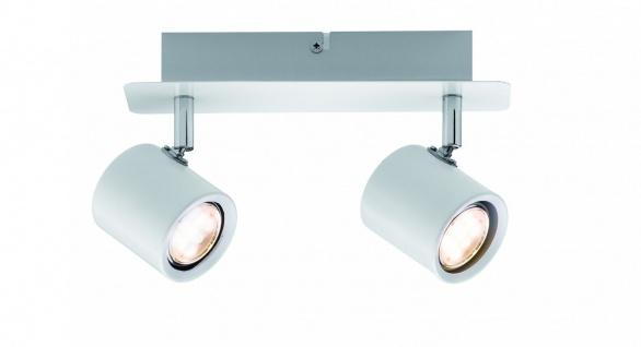 Paulmann 603.88 Spotlight Plain LED 2x3, 4W Weiß/Chrom 230V Metall