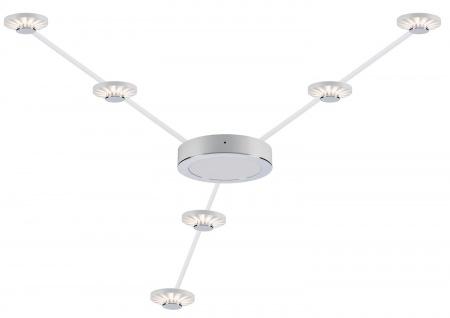 Paulmann 93648 Frill LED-Aufbauleuchte 6er Set 2.7W Warm-Weiß Chrom matt