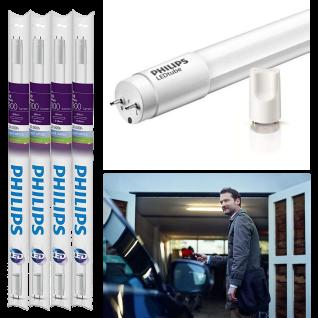 4x Philips 8718696506905 LED 60 cm G13 Leuchtstoffröhre 10W Tageslichtweiß 6500K inkl. Starter