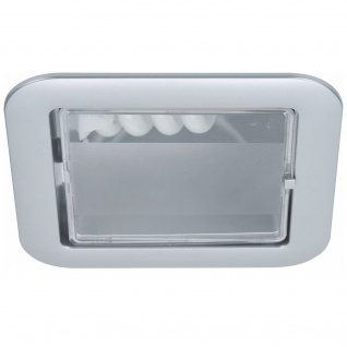 Paulmann 920.06 Quality Einbauleuchte Set eckig Energiesparlampe 1x9W 230V E14 120mm Chrom matt/Polycarbonat