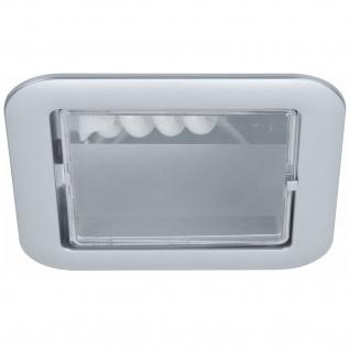 Paulmann Quality Einbauleuchte Set eckig Energiesparlampe 1x9W 230V E14 120mm Chrom matt/Polycarbonat