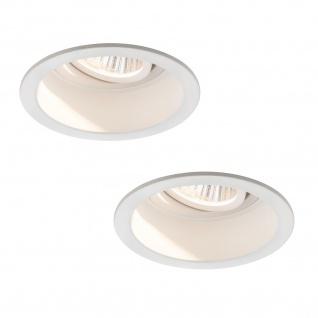 Paulmann 926.74 Premium Einbauleuchte Set Daz schwenkbar LED 2x9, 5W 18VA 230V/350mA 153mm Weiß m/Alu Zink
