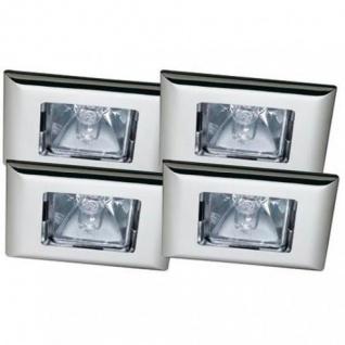 Premium EBL Set Quadro 4x35W 150VA 230/12V GU5, 3 68mm Chrom/Alu Zink