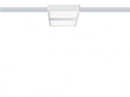 URail System LED Panel Double 8W Weiß/Chrom 230V Alu/Kunststoff