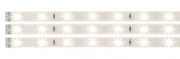 Paulmann 702.12 Function YourLED Stripe Pack 3x97cm Warmweiß 3x3, 12W 12V DC Weiß Kunststoff