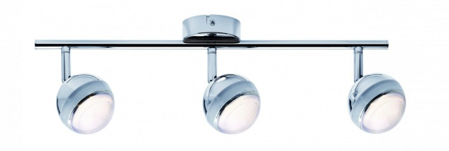Spotlight Scoop LED 3x4, 6W Chrom 230V Kunststoff