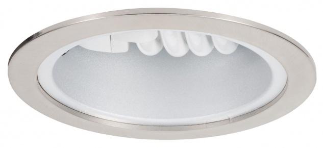Paulmann 920.08 Quality Einbauleuchte Energiesparlampe max. 15W 230V E27 145mm Eisen gebürstet/Stahlblech