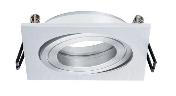 Paulmann 2Easy Premium Einbauleuchte 3er Spot-Set Quadro schwenkbar 51mm Alu gebürstet