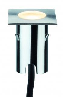 Paulmann Special MiniPlus Boden Einbauleuchte eckig IP67 Ergänzungsset 4x0, 7W 2700K 43x43mm Edelstahl