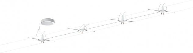 AirLED System Set Drum 4x3W, Weiß 230V, 700mA, Metall/Kunststoff