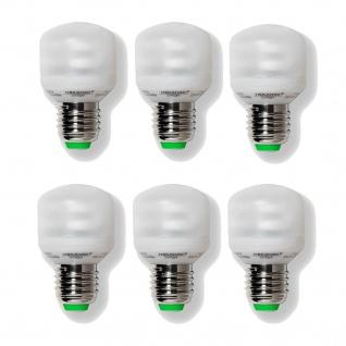 6 x Megaman Energiesparlampe Sparlampe Softlight E27 7W flach 2700K - MM04012i