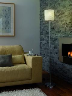 Paulmann Living Carvu Stehleuchte 1x25W Energiesparlampe E27 Chrom/Opal/Satin 230V Metall/Glas
