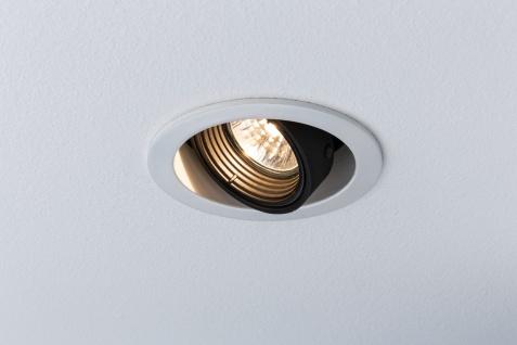 Paulmann 926.81.LED 2700K Premium Einbauleuchte Daz rund schwenkbar 1x8W LED 230V GU10 Weiß m./Schw. dimmbar - Vorschau 5